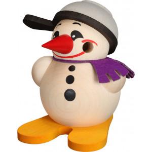 Kugelräucherfigur Cool-Man mit Ski & Pfanne