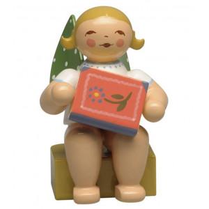 Kalenderfigur 2020 Engel mit Märchenbuch