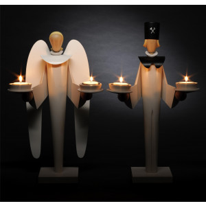 Engel und Bergmann für Teelichter