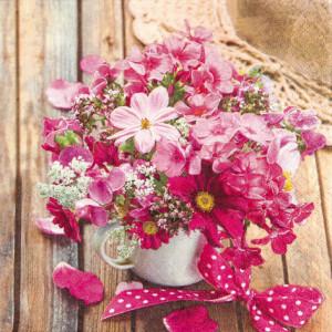 Tischservietten Sommer Blumenstrauß