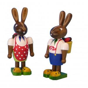 Osterhasen-Paar mit Körbchen