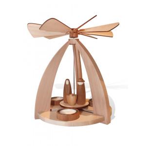 Moderne Teelichtpyramide mit Krippefiguren