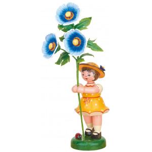 Blumenkind mit Malve, 24 cm