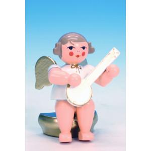 Engel w/g sitzend mit Banjo