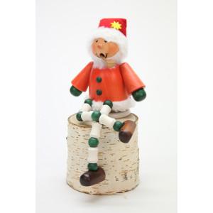 Räuchermännchen Schlingel Weihnachtsmann Schlenkerbein