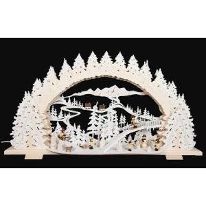 3D-Mehrschicht-Schwibbogen Rodeln auf dem Ziegenberg, 70 cm