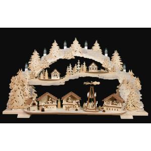 3D-Mehrschicht-Schwibbogen Weihnachtsmarkt, 70 cm