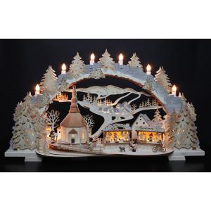 3D-Mehrschicht-Schwibbogen Kirmes in Seiffen, 70 cm