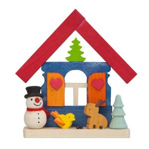 Baumbehang Haus Schneemann mit Tieren
