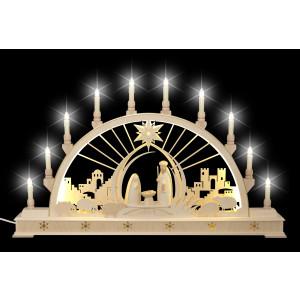 LED-Schwibbogen Christi Geburt mit Sockel