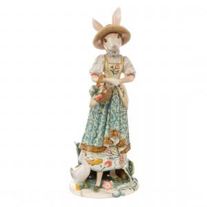 Hasenfrau mit Blumenkorb, 50 cm