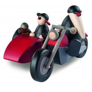 Motorradfahrer mit Beiwagen