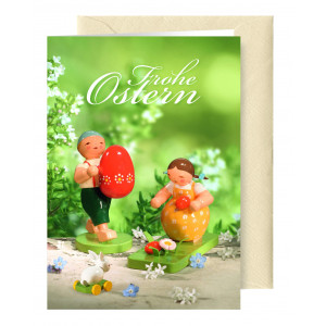 Grußkarte Ostern mit Briefumschlag
