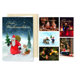 Grußkarten Weihnachsgrüße, 6 Karten