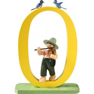Zahl 0 Junge mit Geige