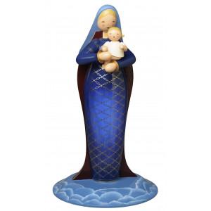 Madonna mit Christkind groß reich bemalt