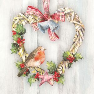 Tischservietten Vogel im Herz