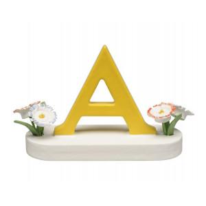 Buchstabe A mit Blumen