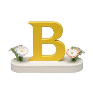 Buchstabe B mit Blumen