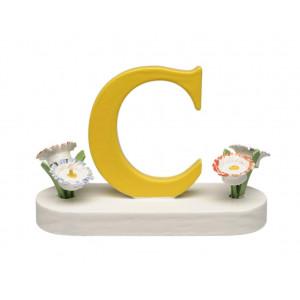Buchstabe C mit Blumen