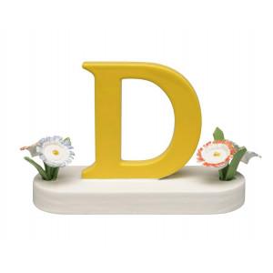 Buchstabe D mit Blumen