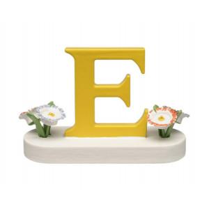 Buchstabe E mit Blumen