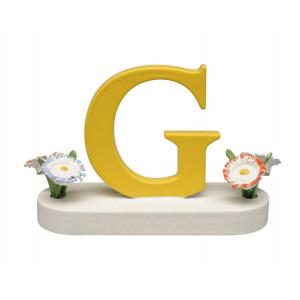Buchstabe G mit Blumen