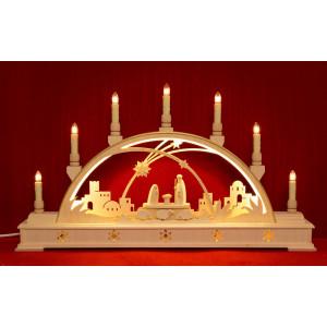 LED-Schwibbogen Christi Geburt mit Sockel, klein