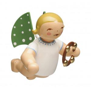 Engel mit Schellenring schwebend