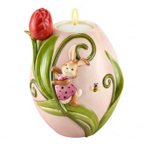 Osterhäsin Teelichthalter Tulpe