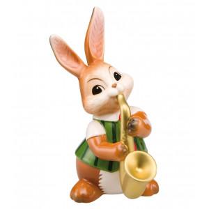 Osterhase Saxophonspieler