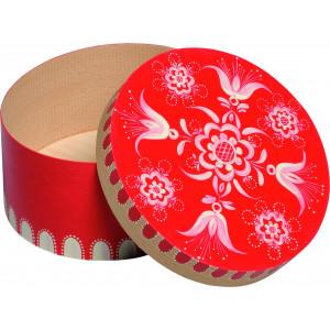 Spandose mit floralem Muster rot, klein, rund, Ø 17,6 cm