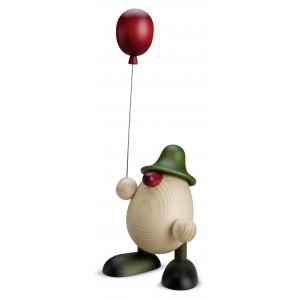 Eierkopf Otto mit Luftballon, grün