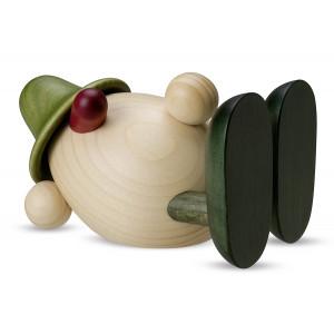 Eierkopf Oskar liegend, grün