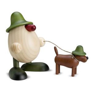 Eierkopf Rudi mit Waldi, grün