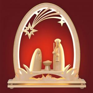 LED-Schwibbogen Seidelbogen Christi Geburt