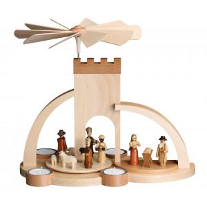 Moderne Teelichtpyramide Christi Geburt