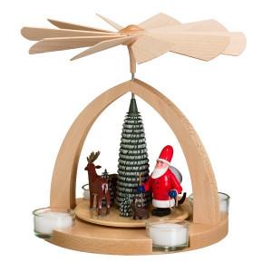 Moderne Teelichtpyramide Weihnachtsmann