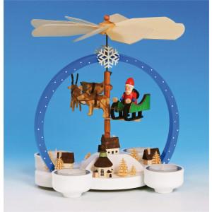 Teelichtpyramide Weihnachtszauber, farbig