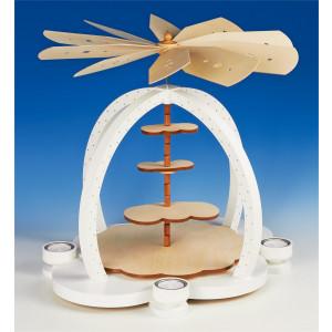 Teelichtpyramide Wolkenzauber zum selbst Bestücken