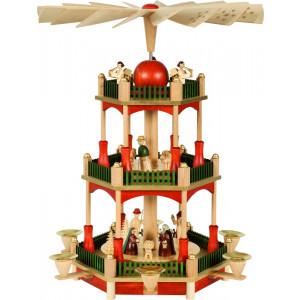 Bunte Pyramide Christi Geburt 2-stöckig
