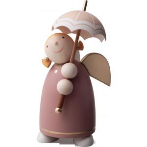 Schutzengel mit Schirm Rosenholz, 8 cm
