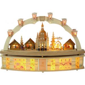 Schwibbogen Dresdner Frauenkirche mit Pyramide
