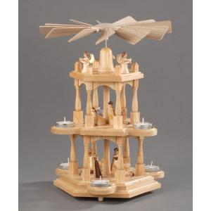 Teelichtpyramide Christi Geburt 3 Etagen