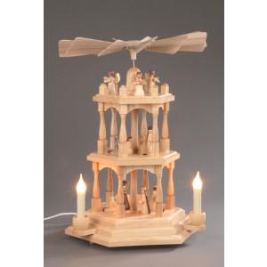 Pyramide Christi Geburt 3 Etagen elektrisch