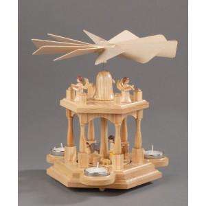 Teelichtpyramide Christi Geburt, 2 Etagen