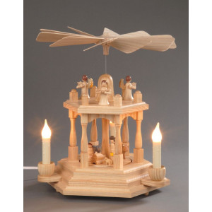 Pyramide Christi Geburt 2 Etagen elektrisch