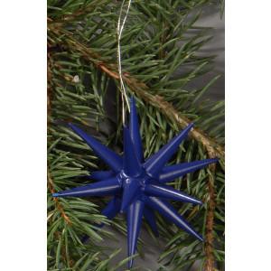 Holzsterne 6-teilig klein - dunkelblau