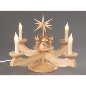 Adventsleuchter mit Engel natur elektrisch