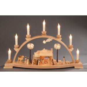 Schwibbogen Christi Geburt mit Innenbeleuchtung